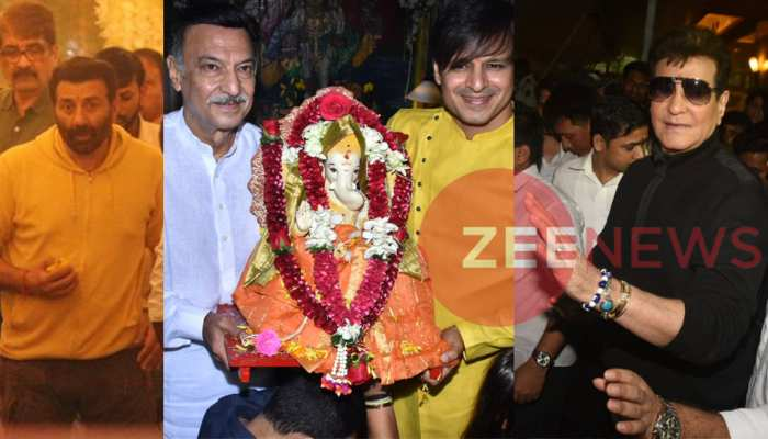 Ganpati Bappa's immersion: see photos of Bollywood stars house