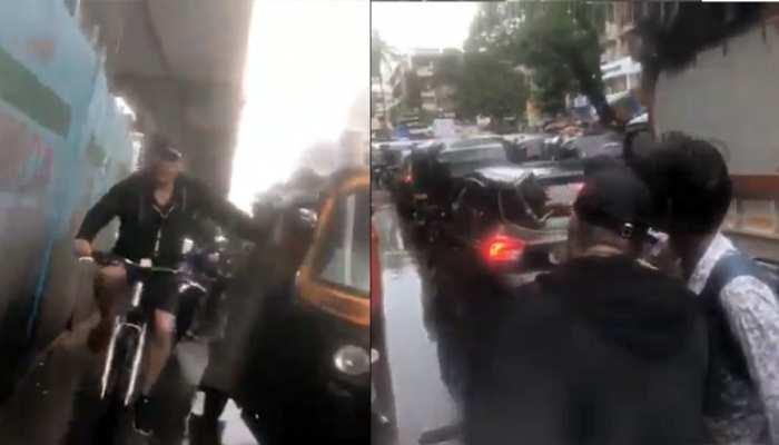 VIDEO: मुंबई की बारिश से ऐसे हुए परेशान, 'दबंग 3' की शूटिंग के लिए साइकिल से पहुंचे सलमान