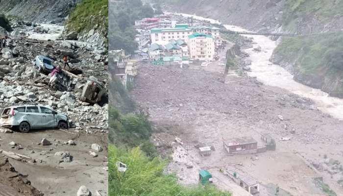 उत्तराखंड: चमोली में एक बार फिर फटा बादल, सामने आईं तबाही की तस्वीरें