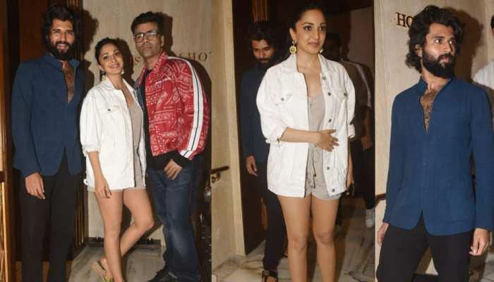 Karan, Vijay and Kiara spotted together at Manish Malhotra's house - what's the matter?