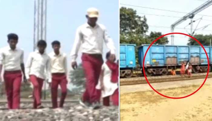 झारखंड: प्रतिदिन जान जोखिम में डालते हैं बच्चे, ट्रेन के नीचे से गुजरकर स्कूल जाने को मजबूर