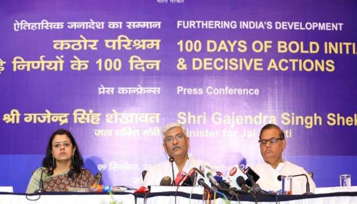 जयपुर: मोदी सरकार के 100 दिन पूरे होने पर मंत्री गजेंद्र सिंह शेखावत ने गिनाईं उपलब्धियां