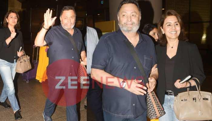 PICS: Rishi Kapoor returned to Mumbai from New York with wife Neetu
