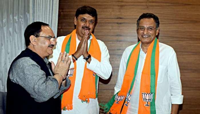 राज्यसभा उपचुनाव: BJP प्रत्याशी सुरेंद्र नागर और संजय सेठ ने दाखिल किया नामांकन