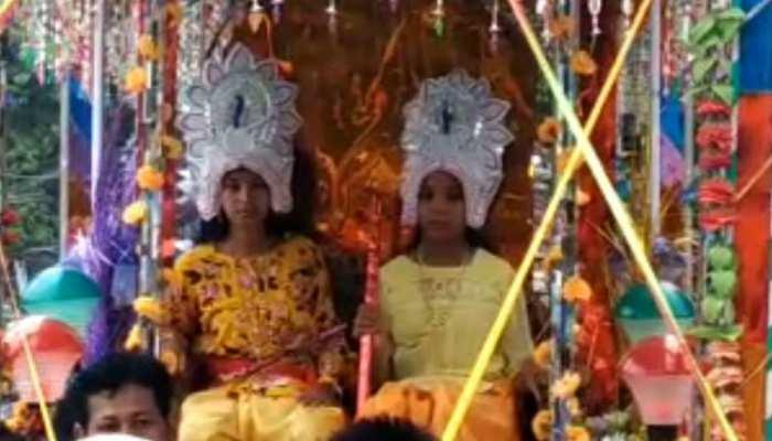बेतिया: बारिश के लिए ग्रामीणों ने कराई कृष्ण-रुक्मिणी की शादी, 1990 से चल रही परंपरा