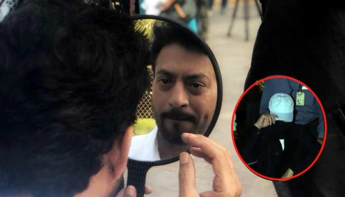 मुंबई एयरपोर्ट पर मीडिया के कैमरों से बचते रहे इरफान खान, व्हीलचेयर पर यूं आए नजर