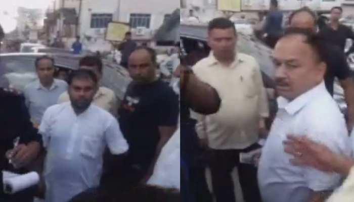 VIDEO: सड़क पर हंगामा इसलिए बरपा...क्योंकि यहां 'नेता जी' का चालान कटा