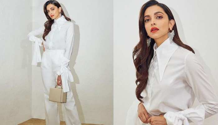 Deepika Padukone stuns in white outfit