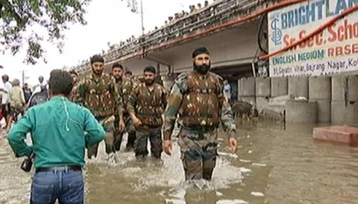 राजस्थान के बाढ़ग्रस्त क्षेत्रों में सेना ने चलाया राहत अभियान, बचाव कार्य जारी