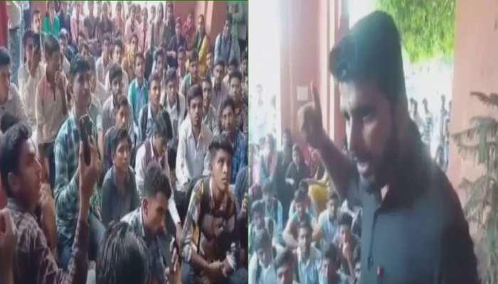 जोधपुर: छात्रों की समस्या को लेकर जेएनवीयू में छात्रसंघ का विरोध प्रदर्शन
