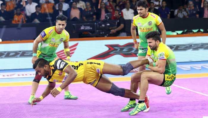 PKL 2019: बराबरी पर रहा तेलुगु और पटना का रोमांचक मैच, 3 प्लेयर्स ने लगाए सुपर 10