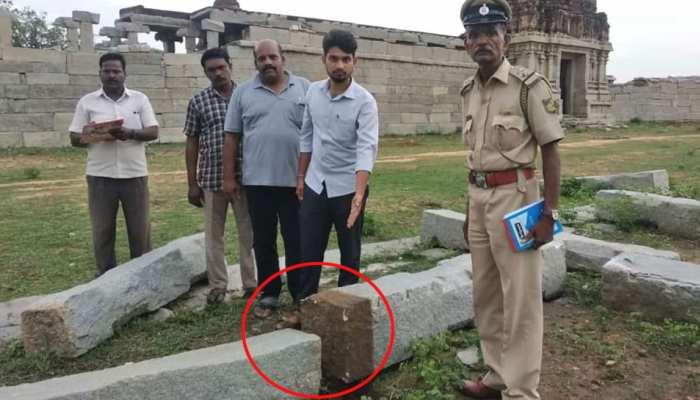 कर्नाटक: हम्पी के ऐतिहासिक खंभे को तोड़ा, आरोपी बोला- सेल्फी की वजह से हुआ नुकसान