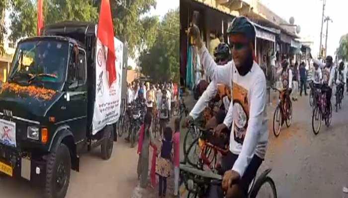 राजस्थान: केन्द्रीय अर्धसैनिक बलों की साइकिल रैली पहुंची जोधपुर, हुआ जारदार स्वागत