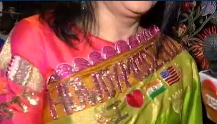 Women designs special Saari for HOWDY Modi Event, PM Modi appreciate