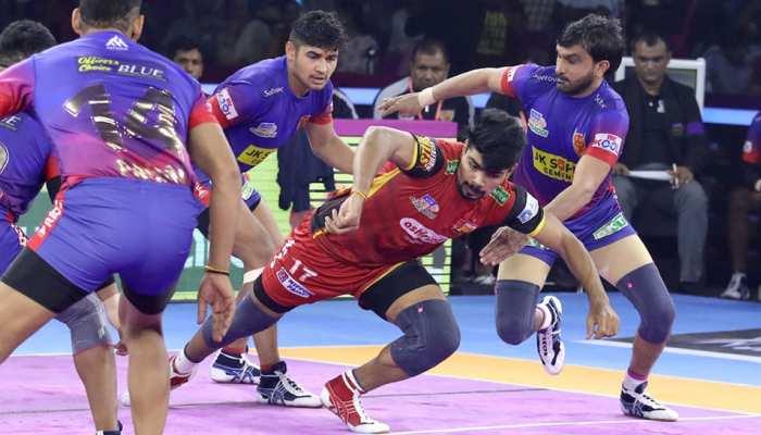 PKL 2019: दबंग दिल्ली को अंतिम समय में जीत से रोका बेंगलुरू बुल्स ने, मैच हुआ टाई