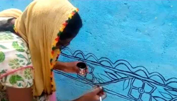 नवरात्रा से पहले मिथिला पेंटिंग से सजाया जाएगा उच्चैठ मंदिर को, तैयारी में जुटे कलाकार