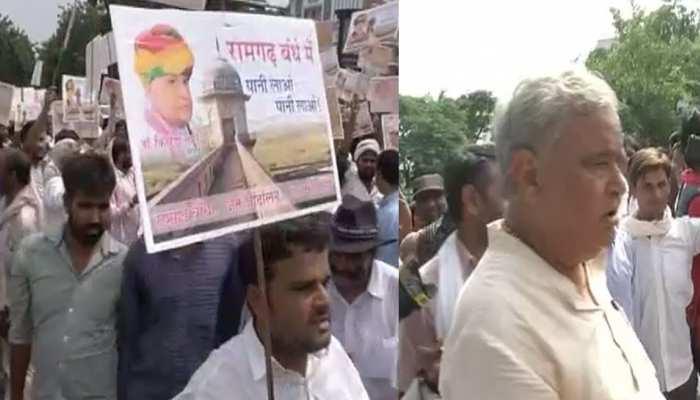 राजस्थान: रामगढ़ बांध को लेकर किरोड़ीलाल मीणा ने किया विरोध प्रदर्शन, रखी यह मांग...