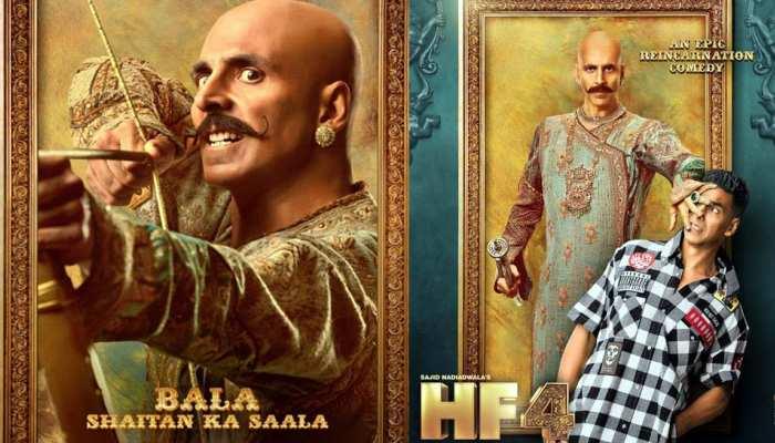 आ गए HOUSEFULL 4 के मजेदार POSTERS, खतरनाक 'बाला' और मासूम 'हैरी' बनेंगे अक्षय कुमार