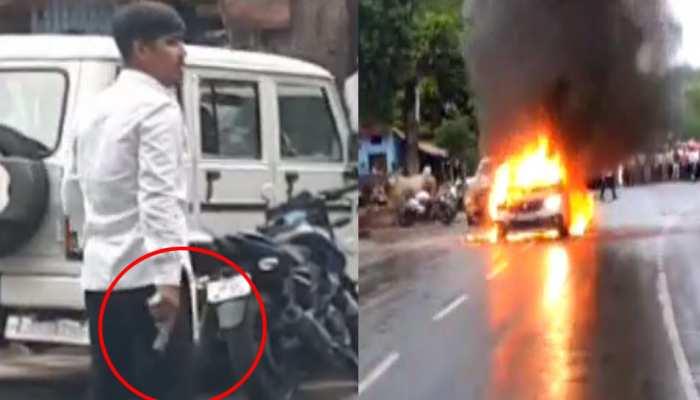 VIDEO: मथुरा में SSP ऑफिस के सामने तमंचा दिखाकर डराता रहा शख्स और गाड़ियों के पीछे छिपती रही पुलिस