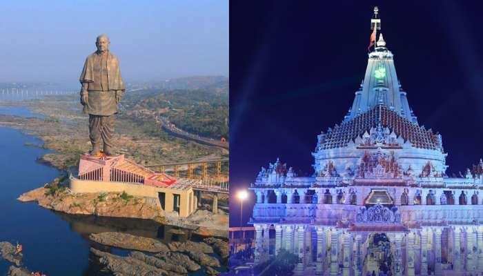 स्टैच्यू ऑफ यूनिटी से लेकर सोमनाथ मंदिर तक, दिल लुभा लेंगे गुजरात के ये टूरिस्ट प्लेस