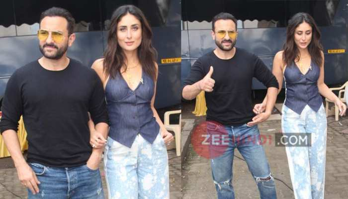 Saif Ali Khan-Kareena Kapoor Khan's Bandra outing, See Photos