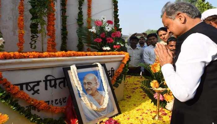 गांधी जयंती पर सीएम अशोक गहलोत ने 'बापू' को किया याद, बीजेपी-संघ पर कसा तंज