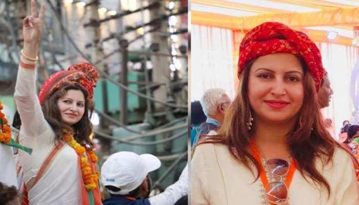 Tik Tok स्टार सोनाली फोगाट ने भरा आदमपुर से नामांकन, कहा - भजनलाल परिवार का किला ढहा दूंगी