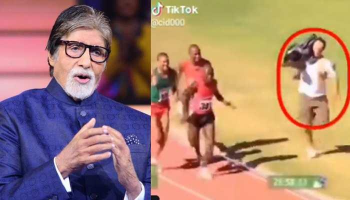 एथलीट्स का वीडियो बनाते हुए कैमरामैन बन गया विनर! अमिताभ बच्चन ने शेयर किया VIDEO