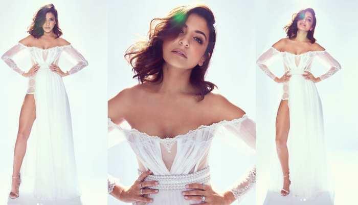 Anushka Sharma Looks Stunning in Single Side Split Gown Dress See Pics