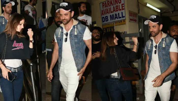 Hrithik Roshan and Sussanne Khan spotted at juhu mumbau on a movie date check hd images