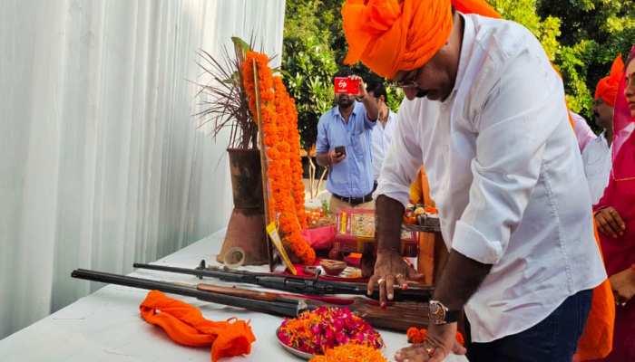 गहलोत सरकार के मंत्री ने शस्त्र-पूजा के बाद राम मंदिर के निर्माण पर कही यह बात