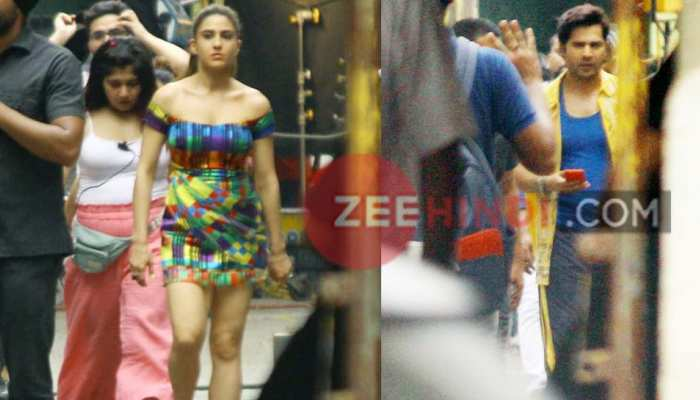 'Coolie number 1' shooting pictures of LEAK, Varun and Sara seen in this style