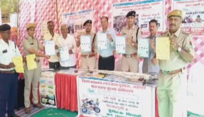 सड़क पर सावधानी के लिए जालौर में सड़क सुरक्षा अभियान का शुभारंभ