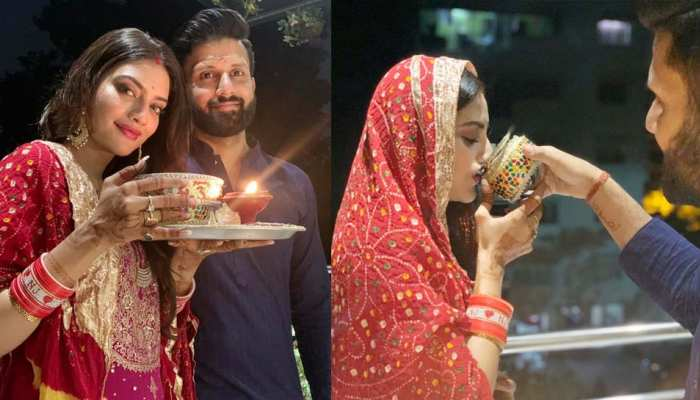 VIRAL PHOTOS: These pictures of Nusrat Jahan of 'Karwa Chauth' went viral