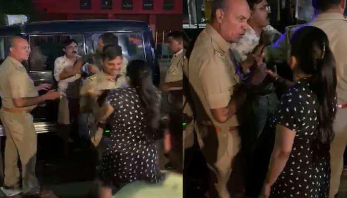 VIDEO: दरोगा ने महिला पर उठाया हाथ, जवाब में मिले थप्पड़ ही थप्पड़