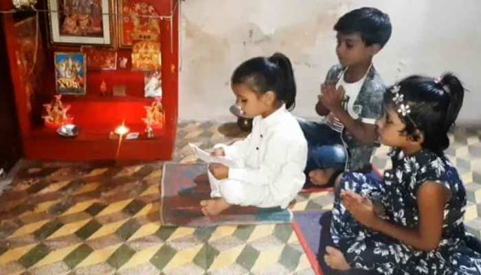 Three year old Ritima memorized Hanuman Chalisa and sanskrit Shloka in Ratlam