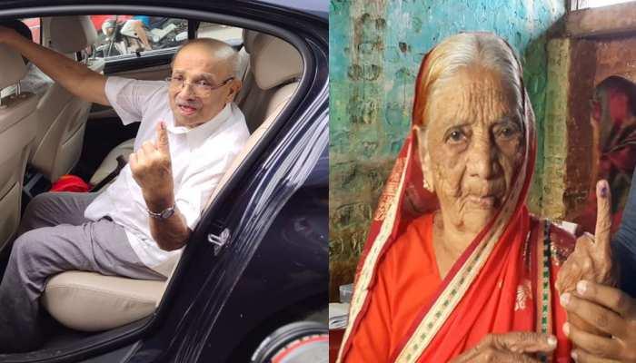 महाराष्ट्र विधानसभा चुनाव: मतदान के लिए बुजुर्गों में दिखा गजब उत्साह, देखिए तस्वीरें