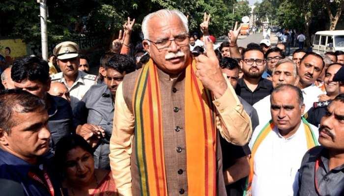 #ZEEMAHAEXITPOLL हरियाणा : BJP को प्रचंड बहुमत मिलने का अनुमान