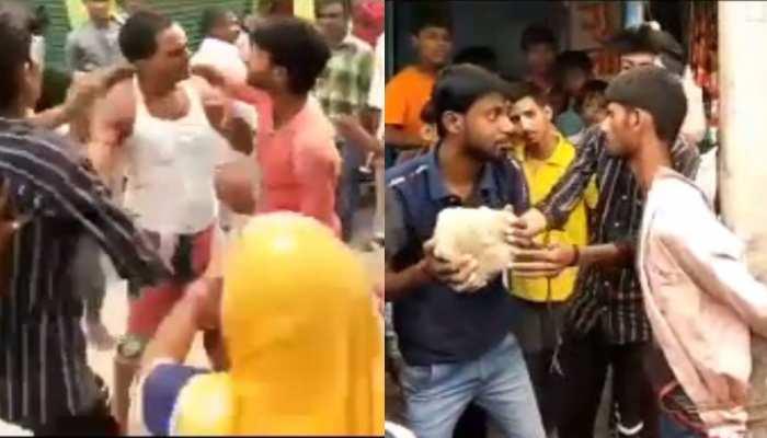 बेगूसराय: मंदिर से मुकुट हुआ चोरी, भीड़ ने दो शख्स को जमकर पीटा