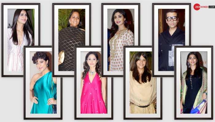 Manish Malhotras Diwali Party Karan Johar Ekta Kapoor Tahira Kashyap Nushrat Bharucha Shilpa Shetty Pooja Hegde attended and others