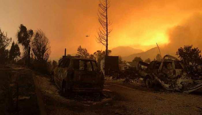 दक्षिणी कैलिफोर्निया में 20 मिनट में 200 एकड़ तक फैल गई आग...