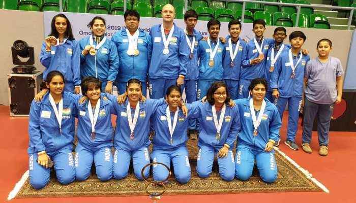 भारतीय जूनियर टेबल टेनिस प्लेयर्स ने किया धमाल, ओमान ओपन में जीते 7 मेडल