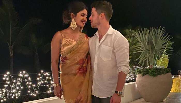 VIRAL PIC: शादी के बाद प्रियंका ने पति निक के साथ मनाई पहली दिवाली