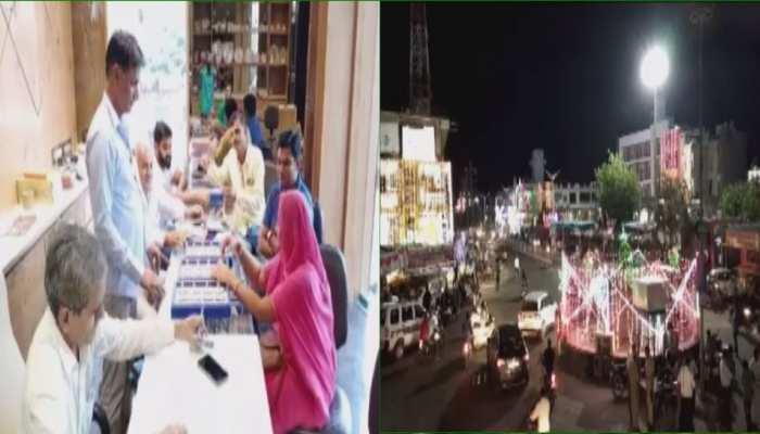 दीपावली पर जालोर के बाजार में उमड़ी भीड़, दुल्हन की तरह सजा शहर