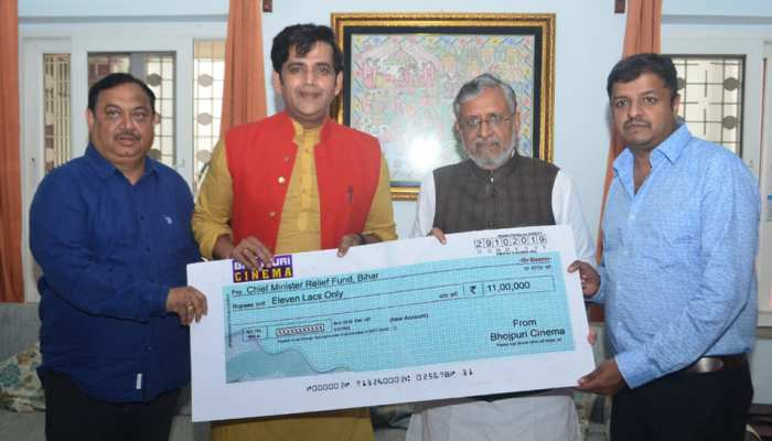 बाढ़ पीड़ितों की मदद के लिए आगे आए रवि किशन, CM राहत कोष में डोनेट किए पैसे