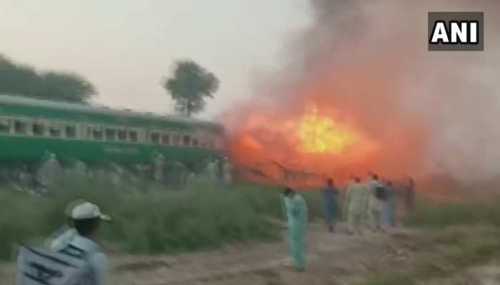 पाकिस्तान: ट्रेन में गैस सिलेंडर पर खाना बना रहे थे यात्री, विस्फोट से 65 लोगों की मौत