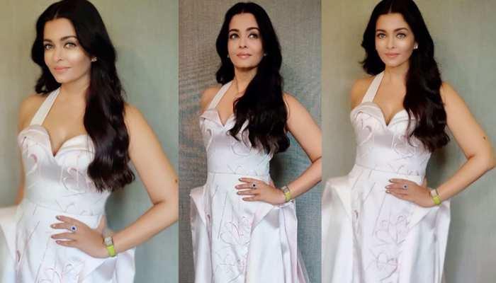 Aishwarya Rai Bachchan looks like a vision in this gorgeous satin gown