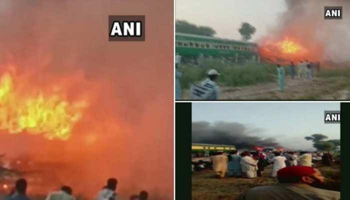 पाकिस्तान रेल हादसा : गैस सिलेंडर नहीं बल्कि शार्ट सर्किट से लगी ट्रेन में आग