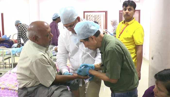 झुंझुनूं: विश्व युद्ध में घायल सैनिकों की तर्ज पर हो रहा आमजन का इलाज