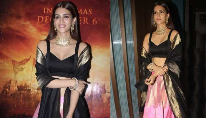 PICS: See the traditional avatar of Kriti Sanon at the 'Panipat' trailer preview event